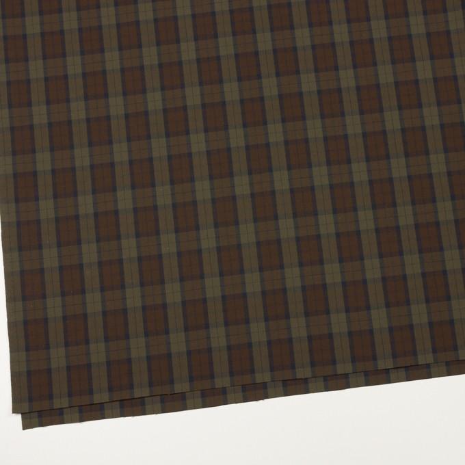 コットン×チェック(カーキグリーン&カーキブラウン)×ブロード イメージ2