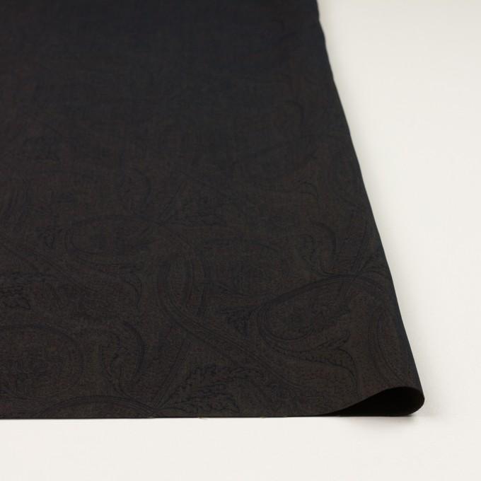 ポリエステル&キュプラ×ペイズリー(カーキブラウン)×ポプリン イメージ3