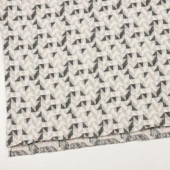コットン&ウール×幾何学模様(アイボリー&チャコール)×ジャガードニット_全2色 サムネイル2