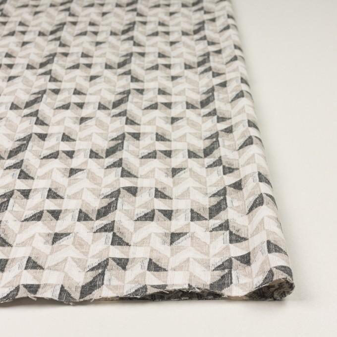 コットン&ウール×幾何学模様(アイボリー&チャコール)×ジャガードニット_全2色 イメージ3