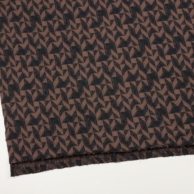 コットン&ウール×幾何学模様(モカ&ダークブラウン)×ジャガードニット_全2色 イメージ2
