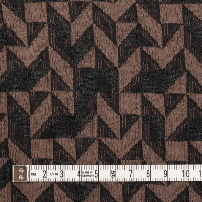 コットン&ウール×幾何学模様(モカ&ダークブラウン)×ジャガードニット_全2色 イメージ4