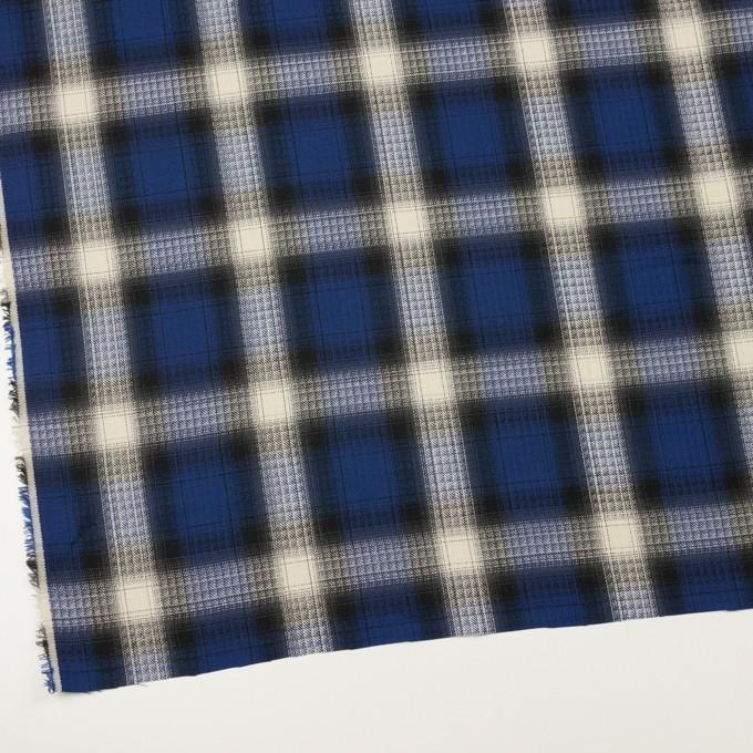 コットン×チェック(マリンブルー&チャコール)×サージ イメージ2