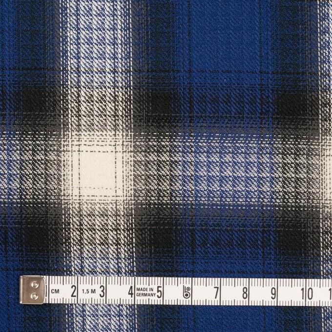 コットン×チェック(マリンブルー&チャコール)×サージ イメージ4