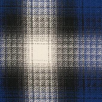 コットン×チェック(マリンブルー&チャコール)×サージ サムネイル1
