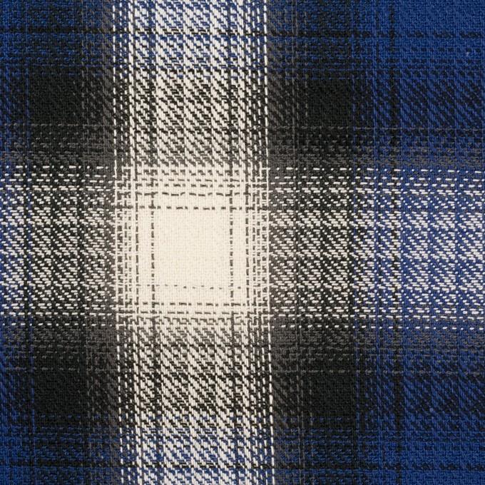 コットン×チェック(マリンブルー&チャコール)×サージ イメージ1