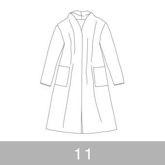オリジナルパターン#016_ロングカーディガン_11号 サムネイル1