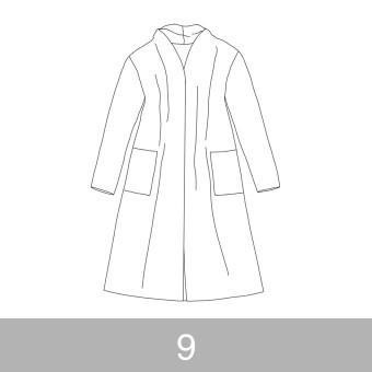 オリジナルパターン#016_ロングカーディガン_9号 サムネイル1