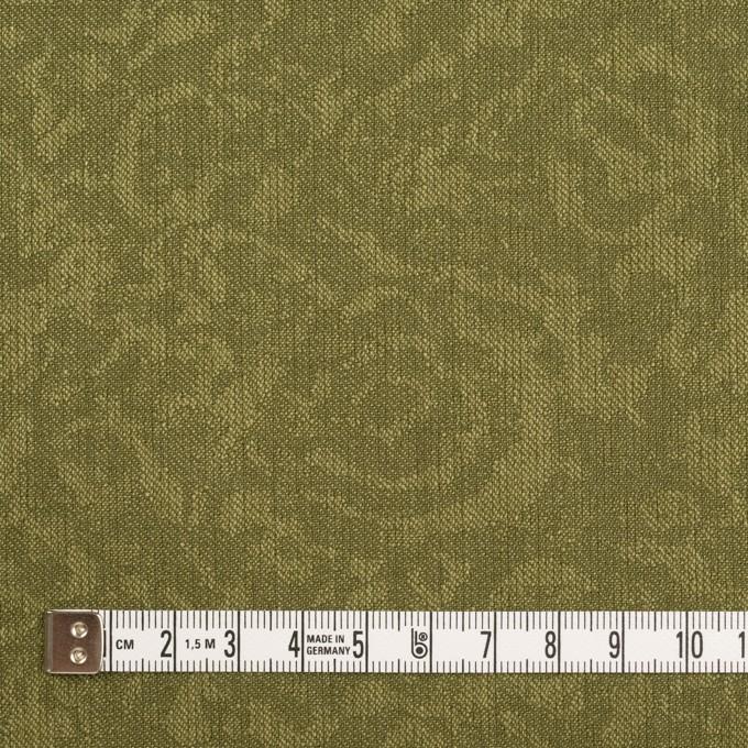 ポリエステル×フラワー(カーキグリーン)×ジャガード イメージ4