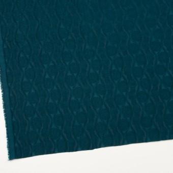 ウール&レーヨン×幾何学模様(バルビゾンブルー)×ジャガード_全3色 サムネイル2