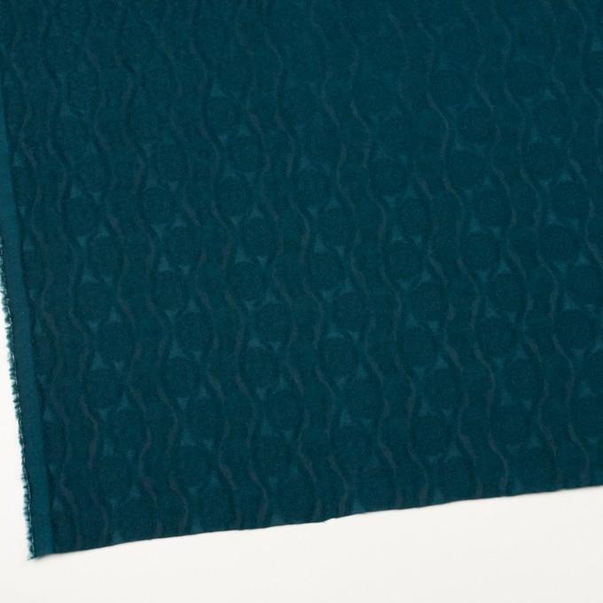 ウール&レーヨン×幾何学模様(バルビゾンブルー)×ジャガード_全3色 イメージ2