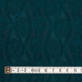 ウール&レーヨン×幾何学模様(バルビゾンブルー)×ジャガード_全3色 サムネイル4