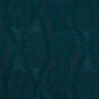 ウール&レーヨン×幾何学模様(バルビゾンブルー)×ジャガード_全3色