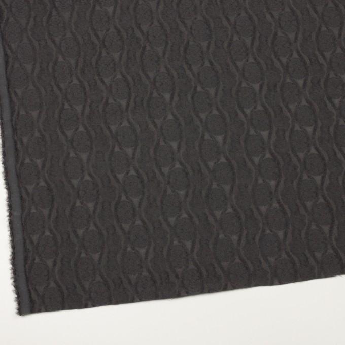 ウール&レーヨン×幾何学模様(ストーングレー)×ジャガード_全3色 イメージ2