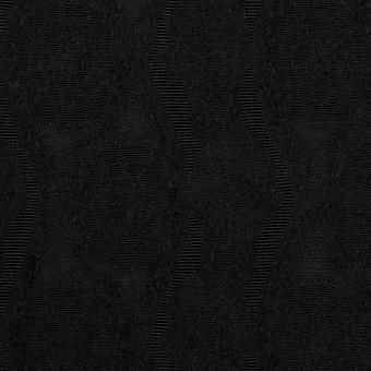 ウール&レーヨン×幾何学模様(ブラック)×ジャガード_全3色