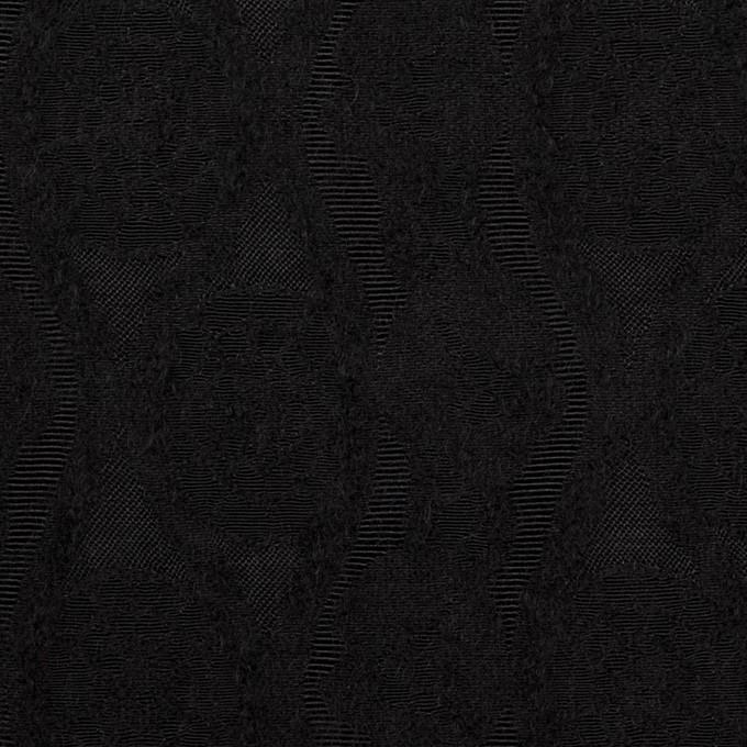 ウール&レーヨン×幾何学模様(ブラック)×ジャガード_全3色 イメージ1
