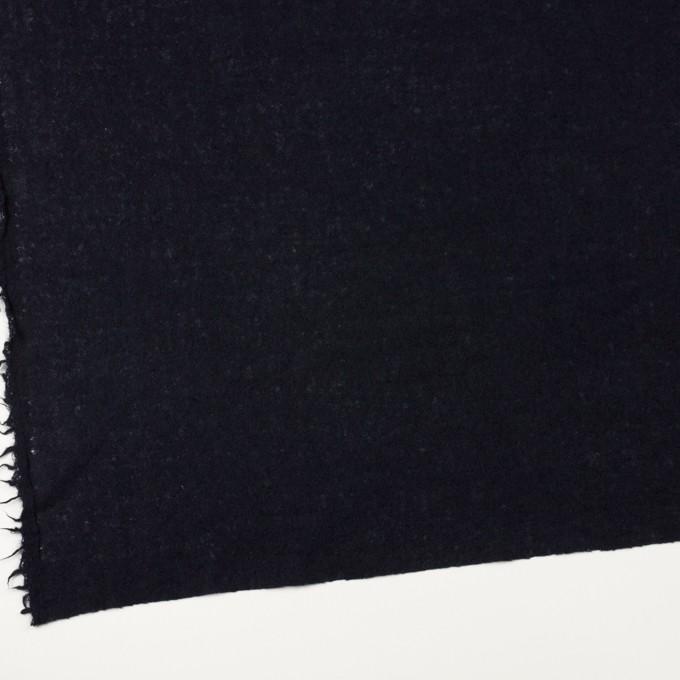 ウール×無地(ブラック)×ガーゼ イメージ2