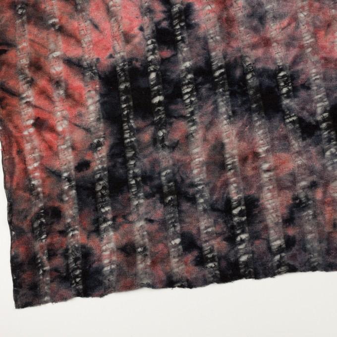 ウール&ナイロン×ミックス(チェリー&ブラック)×ネット&パイルジャガード イメージ2