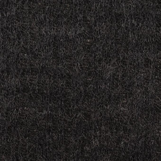 コットン&ウール×無地(チャコール)×Wジャガードニット イメージ1