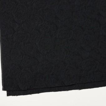 ポリエステル&アクリル混×フラワー(ブラック)×フクレジャガード_全2色 サムネイル2