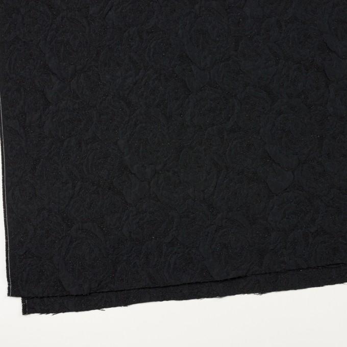ポリエステル&アクリル混×フラワー(ブラック)×フクレジャガード_全2色 イメージ2