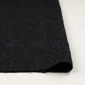 ポリエステル&アクリル混×フラワー(ブラック)×フクレジャガード_全2色 サムネイル3