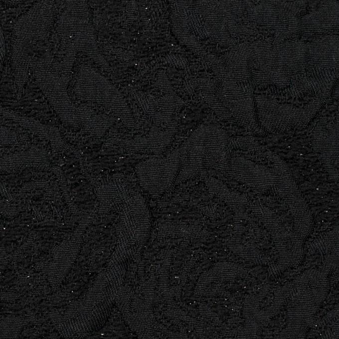 ポリエステル&アクリル混×フラワー(ブラック)×フクレジャガード_全2色 イメージ1