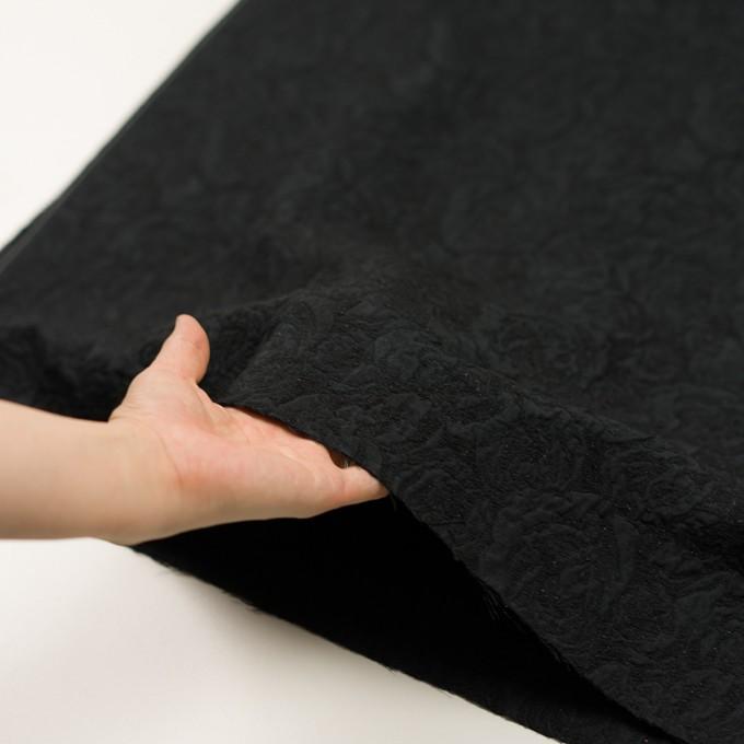 ポリエステル&アクリル混×フラワー(ブラック)×フクレジャガード_全2色 イメージ5
