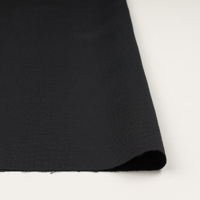 ポリエステル×クロコ(ブラック)×二重織ジャガード イメージ3