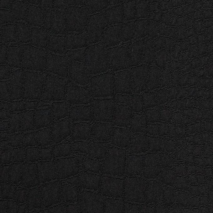 ポリエステル×クロコ(ブラック)×二重織ジャガード イメージ1