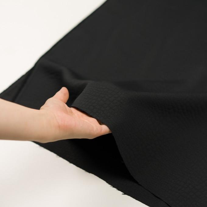 ポリエステル×クロコ(ブラック)×二重織ジャガード イメージ5