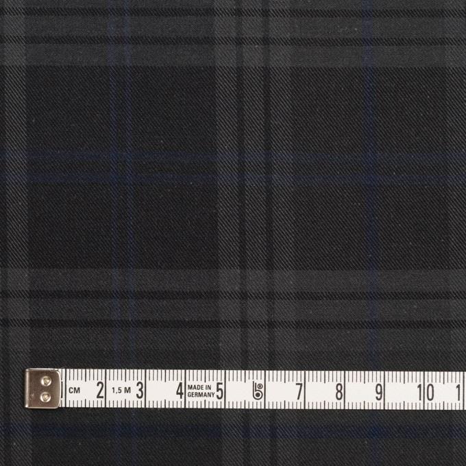 コットン×チェック(チャコール)×サージ イメージ4