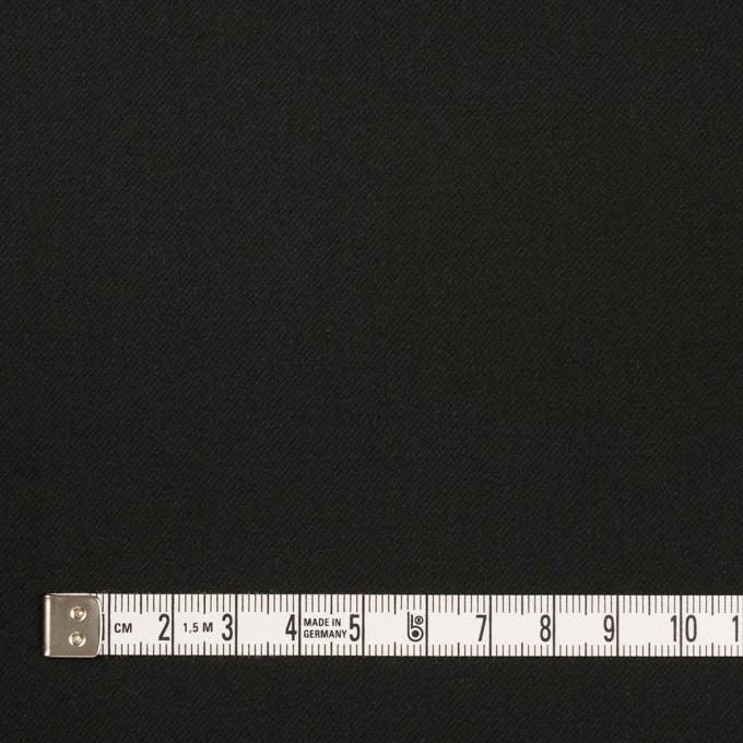 コットン&ポリウレタン×無地(ブラック)×サージストレッチ_全3色_イタリア製 イメージ4