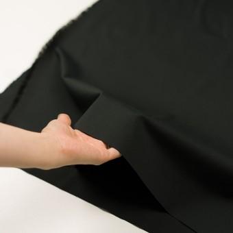 コットン&ポリウレタン×無地(ブラック)×サージストレッチ_全3色_イタリア製 サムネイル5