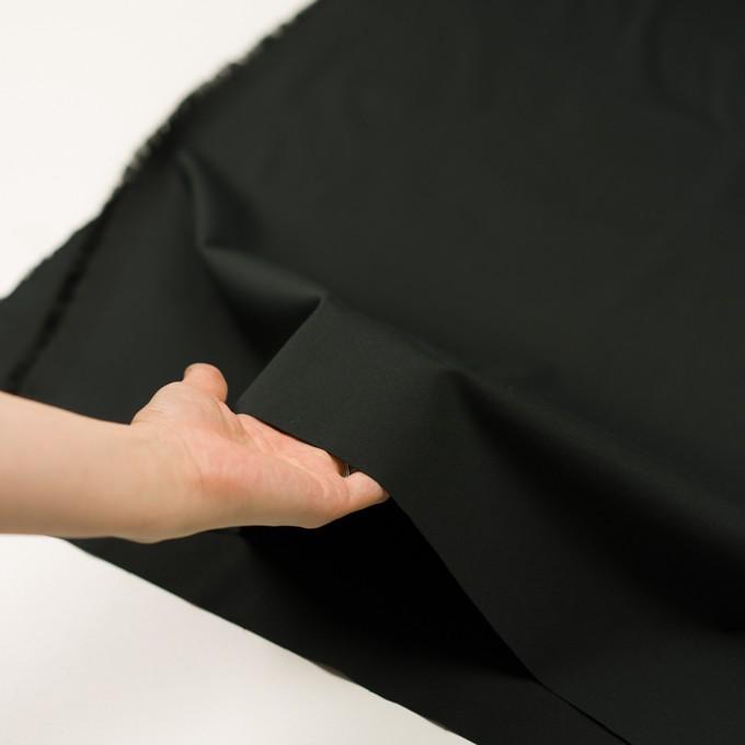 コットン&ポリウレタン×無地(ブラック)×サージストレッチ_全3色_イタリア製 イメージ5