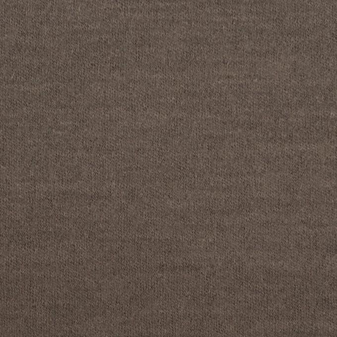 ウール×無地(アッシュブラウン)×圧縮天竺ニット イメージ1