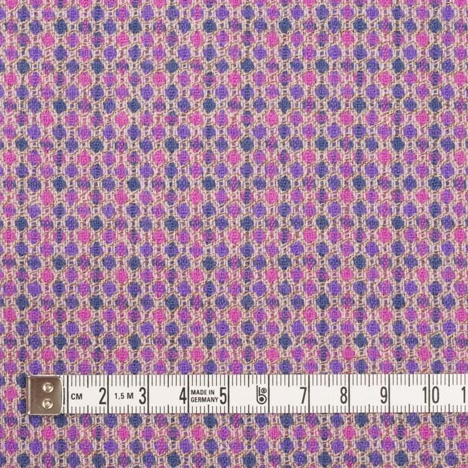 ウール×ドット(モーブ&グレープ)×ジャガード_全2色 イメージ4