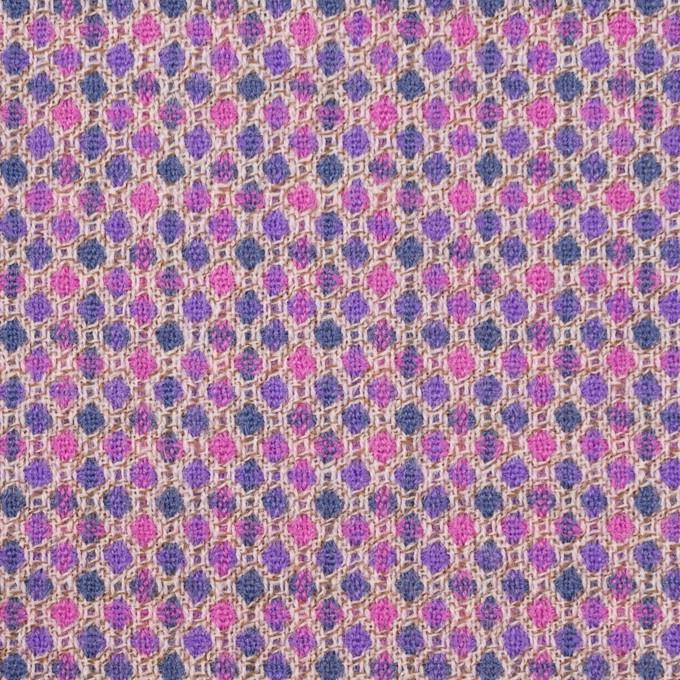 ウール×ドット(モーブ&グレープ)×ジャガード_全2色 イメージ1