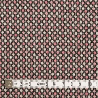 ウール×ドット(ピンク&ブラック)×ジャガード_全2色 サムネイル4