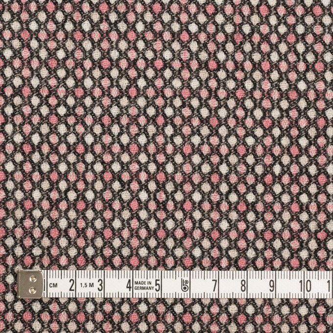 ウール×ドット(ピンク&ブラック)×ジャガード_全2色 イメージ4