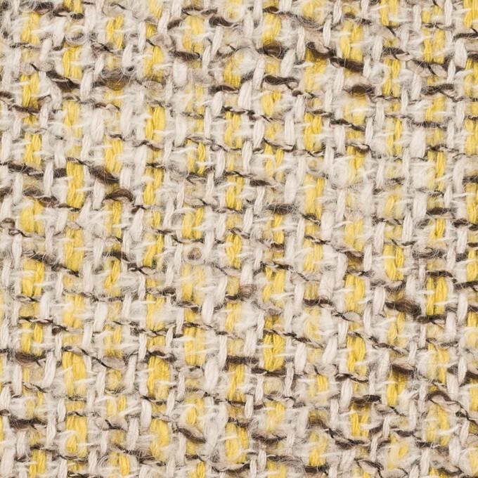 コットン&アクリル混×ミックス(レモン&アイボリー)×ファンシーツイード_全2色 イメージ1