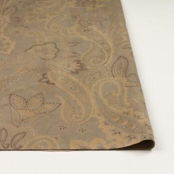 ポリエステル×ペイズリー(カーキ&ゴールド)×スエードかわり織 サムネイル3
