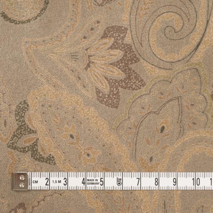 ポリエステル×ペイズリー(カーキ&ゴールド)×スエードかわり織 イメージ4