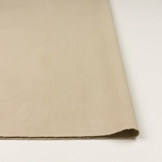 コットン&ポリウレタン×無地(カーキベージュ)×モールスキン・ストレッチ_全3色 イメージ3