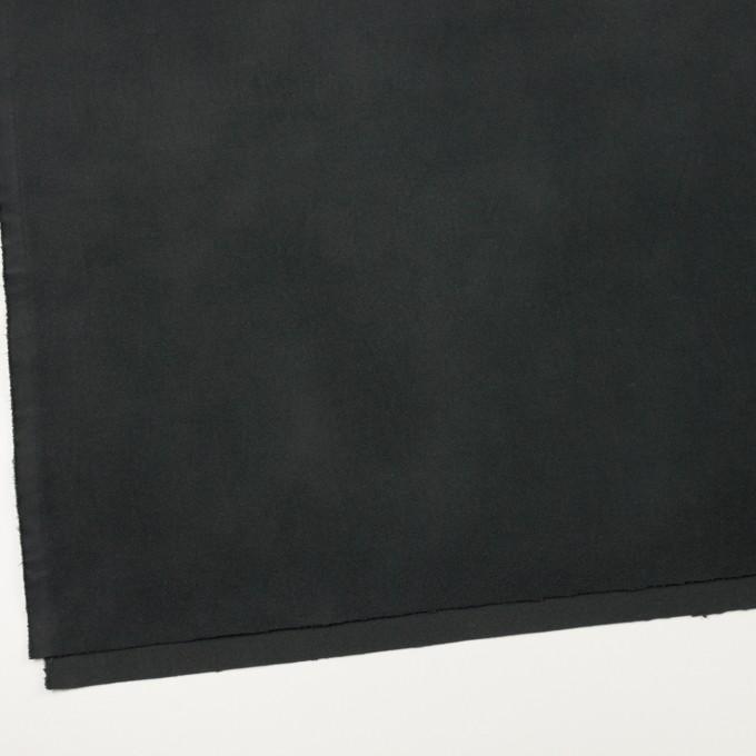 コットン&ポリウレタン×無地(チャコールブラック)×モールスキン・ストレッチ_全3色 イメージ2