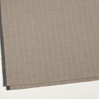 ウール&ナイロン混×ストライプ(ベージュグレー)×ヘリンボーン・ストレッチ サムネイル2