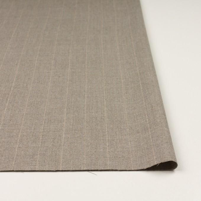 ウール&ナイロン混×ストライプ(ベージュグレー)×ヘリンボーン・ストレッチ イメージ3