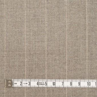 ウール&ナイロン混×ストライプ(ベージュグレー)×ヘリンボーン・ストレッチ サムネイル4
