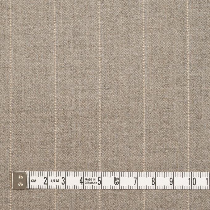 ウール&ナイロン混×ストライプ(ベージュグレー)×ヘリンボーン・ストレッチ イメージ4