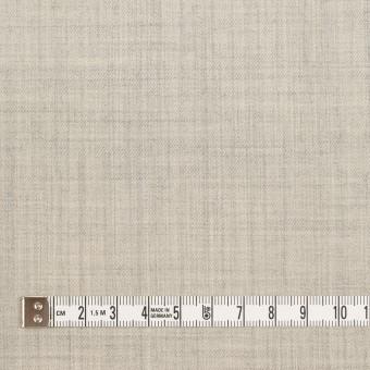 ウール&ナイロン混×無地(ライトグレー)×サージストレッチ サムネイル4